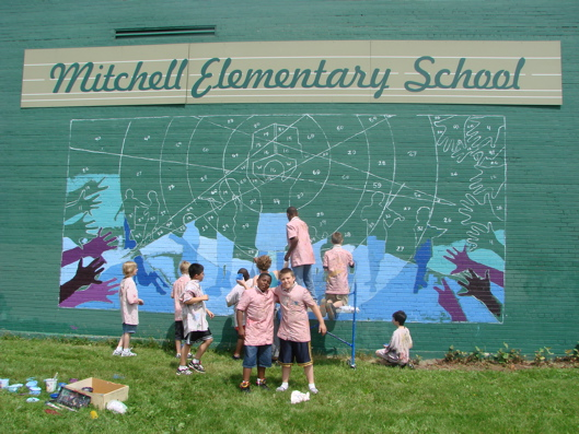 Mitchell elementary public school mural tree town murals for Elementary school mural