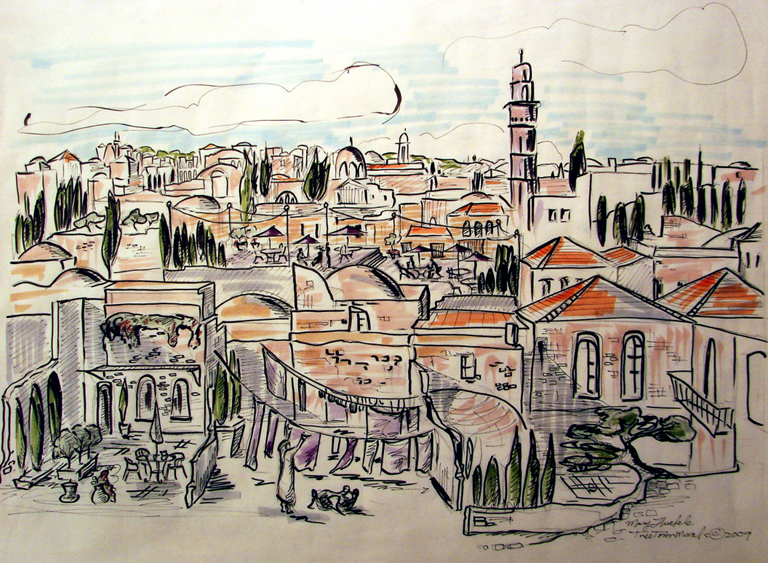 city of jerusalem coloring pages - photo#31