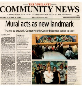 Mural Acts As New Landmark - Newspaper clipping