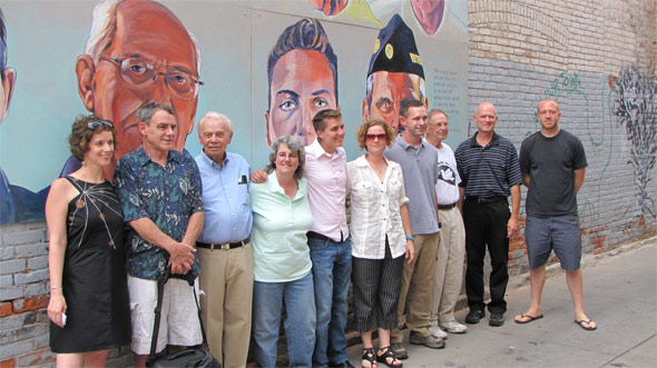 Peaceworks Through Art - New Ann Arbor Mural Honering Michigan Based Veterans and Military Service Men and Women