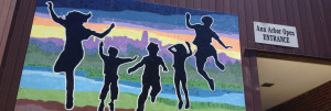 Public mural, ann arbor, michigan, paint by number, treetown murals,  ann arbor public schools, mural, murals, student