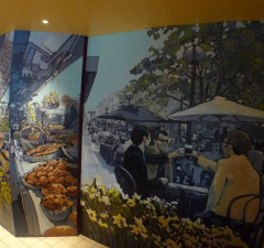 Guy Hollerins Restaurant Murals