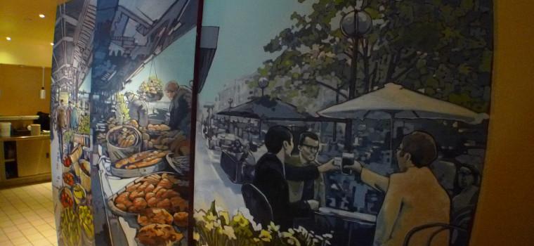 Guy Hollerins Restaurant Murals