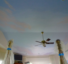 Sunrise Ceiling Mural